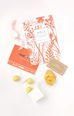 Tropical Wedding Welcome Gift and DIY Treat Bags