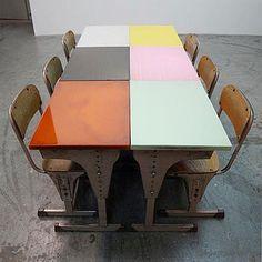 Old/New School desks.
