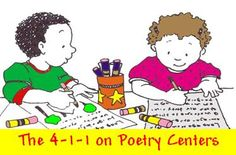 POETRY LITERACY CENTERS -- Part 5 of 8 blog posts on using poetry in the classroom.