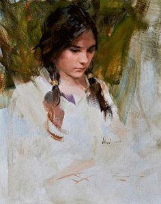 Richard Schmid oil portrait