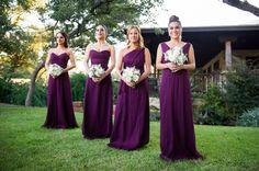 Eggplant Bridesmaid Dresses