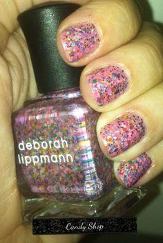 Deborah Lippmann nail polish in Candy Shop
