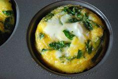 Mini frittatas crustless mini quiche recipe (Spinach & feta)