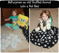 RePurpose Old Stuffed Animals Craft Project