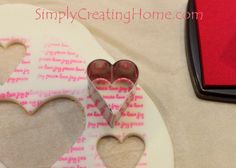 Stamped and Cut Cornstarch Heart