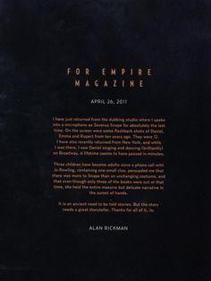 Alan Rickman #Alan #Rickman