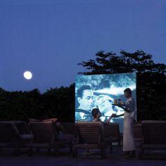 Outdoor screening party