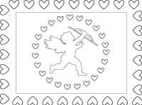 Valentine place mat activity sheet