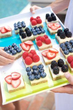 Berry Margarita Cheesecake Squares #myplate #fruit