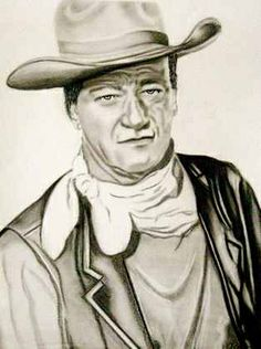Charcoal Portraits John Wayne