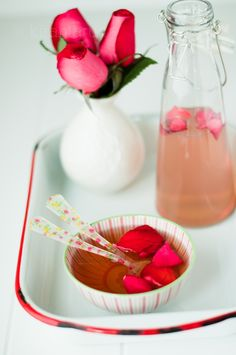 [ DIY: Homemade Rose Water ] For use in bubble baths, or as a toner and cleanser...or of course in desserts. ~ from kirantarun.com