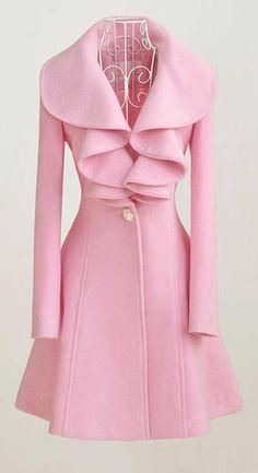 Adorable pink coat