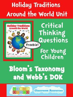 Critical Thinking Questions for Young Children for Holidays Around the World