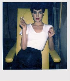 Newly discovered polaroids from the set of Bladerunner. I had a crush on Sean Young in those days!