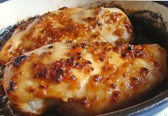 THIS IS FREAKING AMAZING! Just 4 ingredients - chicken, garlic, brown sugar and oil - 3 WW points