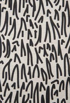 schumacher grass fabric in black