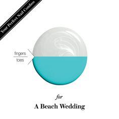 Mani-pedi nail-polish combo for a beach wedding