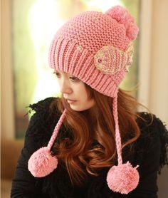 2013 otoño invierno de punto sombrero de lana para las mujeres señora tapas gorro de punto sombreros y gorras