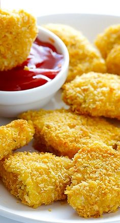 Parmesan Baked Chicken Nuggets ~ super crispy and flavorful on the outside, tender on the inside, and ready to go in less than 30 minutes!