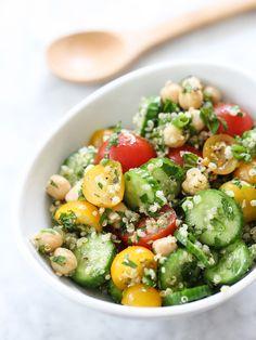 Quinoa Tabbouleh with Chickpeas