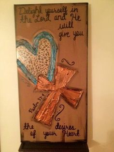 He will give you the desires of your heart Textured Heart Cross Leopard Canvas