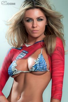 We had some sexy WAGS get painted up for us! Here is Abbey Clancy