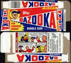 Always loved Bazooka Gum!