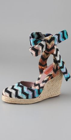 MIssoni. The ankle tie may be too cumbersome, but I like the pattern.
