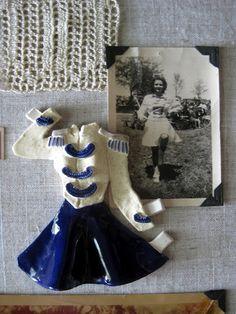 ceramic majorette uniform