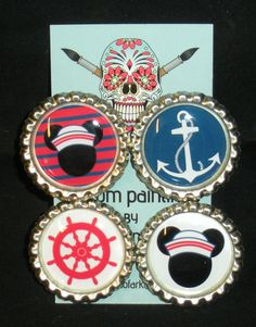 Nautical Mickey Mouse Magnets by Works of ARK