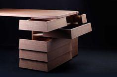 Cartesia Desk Walnut   COLORS