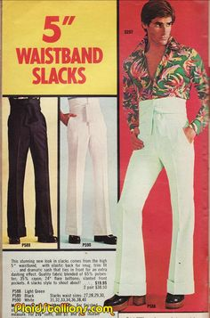 "5"" Waistband Slacks Ad."