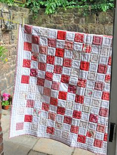 love red and white #quilts