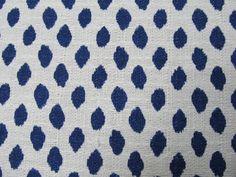 Sahara Indigo Blue on white flax