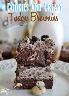 Cookies and Cream Fudge Brownies on MyRecipeMagic.com
