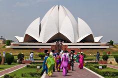 Lotus Temple in New Delhi, by Fariborz Sahba.