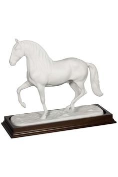 """The Lusitano is a Portuguese horse breed. this specimen is, however, fine porcelain and will make a gorgeous decoration piece in any office or library. JUST $1,195.95 -- H 11.42"""" - W 4.9"""" - L 12.40"""""""
