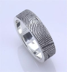 custom fingerprint wedding band! Love these!