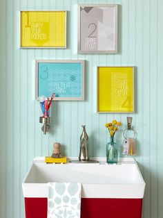 Download our fun laundry room art here: http://www.bhg.com/rooms/laundry-room/storage/printable-laundry-labels-and-art/?socsrc=bhgpin092114laundrylabels