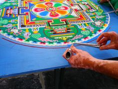Mandala to stimulate compassion and harmony - Leiden The Netherlands, May 19, 2013 - Tour of Compassion and Harmony