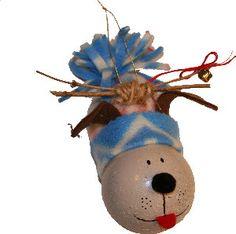 Light Bulb Grinch Dog Ornie ~ Tutorial by Sheri @ Childmade Blog