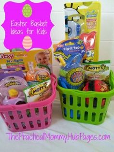 Easter baskets for Toddlers and Babies: Sugarless Alternatives