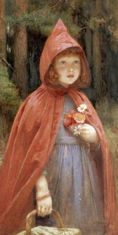 Little Red Riding Hood - Edward Frederick Brewtnall (1846 – 1902, English). Repinned by www.mygrowingtraditions.com