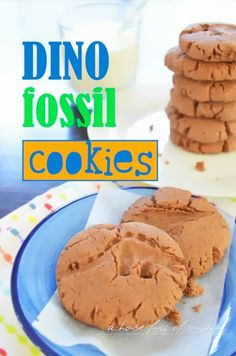 Dino Fossil cookies. What a fun idea to make with the kids!