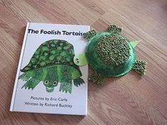 "Eric Carle inspired ""Foolish Tortoise"" Kids craft project"