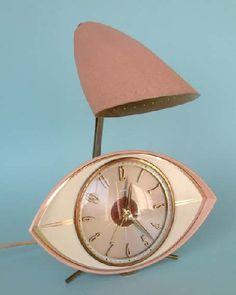 Mid Century Modern clock and night light.