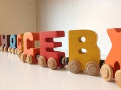 Toys for Tuesday- Colorful Wooden Letters