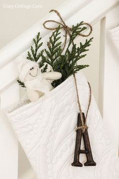featured at the Pretty Things Link Party at twelveOeight-CozyCottageCute's Beautiful Christmas Decor #christmas #shabby #white #diy