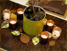 Simple fall party decoration