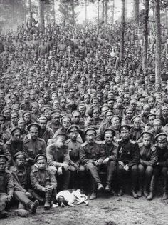 Red Army with dog
